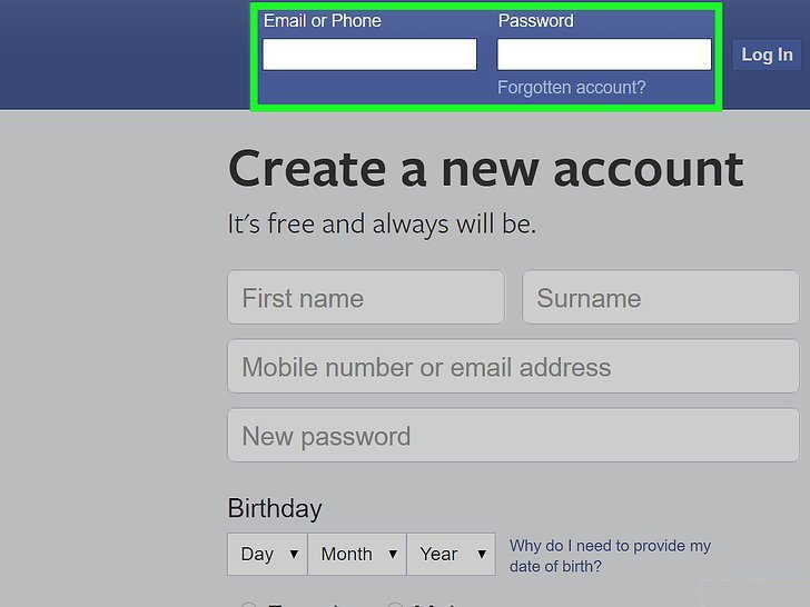 输入账号密码,登录FaceBook网站