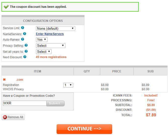 Namesilo 注册域名 配置选项