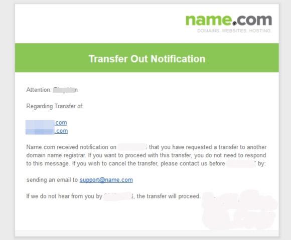 如何将Name.com域名转出?NameSilo转入优惠码:WXR