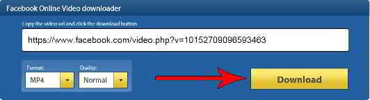 点击下载按钮,下载Facebook视频