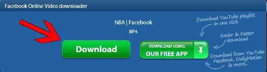 点击下载按钮,将立即开始下载Facebook视频/MP3