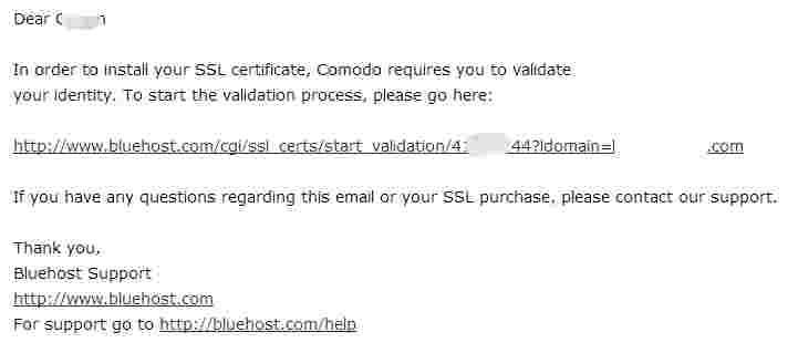 为了安装SSL证书,你需要点击验证链接链接,点击验证后你又需要再发送验证邮件