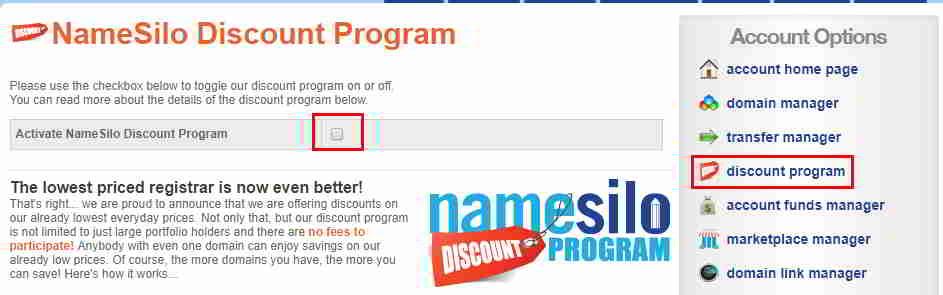 NameSilo Discount Program有什么限制?如何使用?