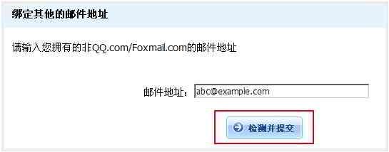 输入你的自定义域名电子邮件地址