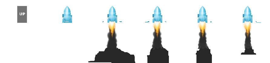 设置单击火箭图标jquery滚动返回到顶部JS代码效果