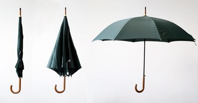 合并/半合/全开的雨伞