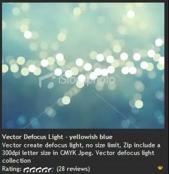 Vector Defocus Light - yello whish blue 黄色发白光蓝色背景