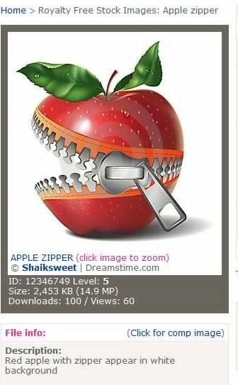 APPLSE ZIPPER 拉链苹果