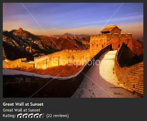 Great Wall at Sunset 在日落时的长城