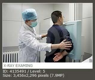 X-RAY EXAMING  X光照射