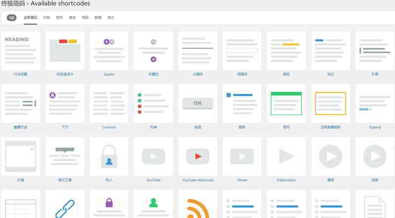 Shortcodes Ultimate:WordPress简单好用的终极简码插件