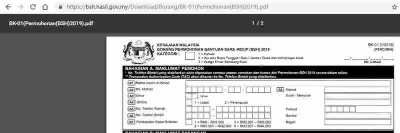 BSH 申请(更新资料)表格PDF文件