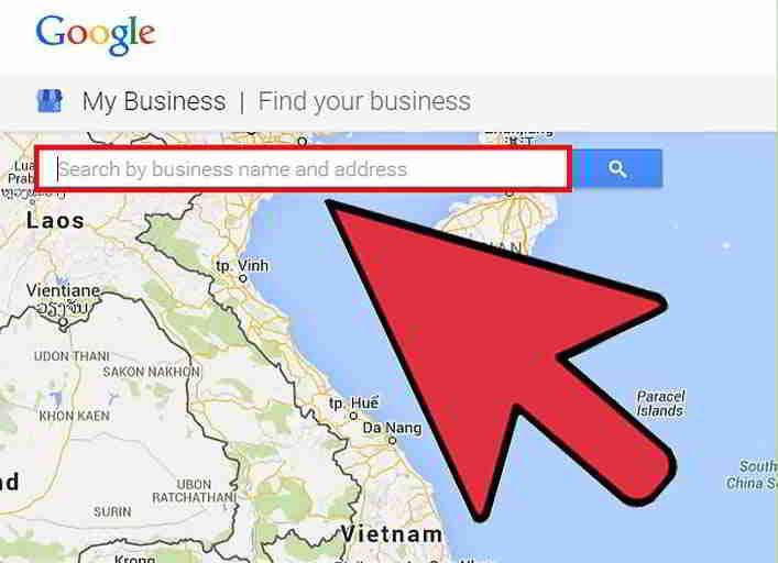 在搜索栏中输入你的公司名称和地址,以便在Google地图上查找你的商家。