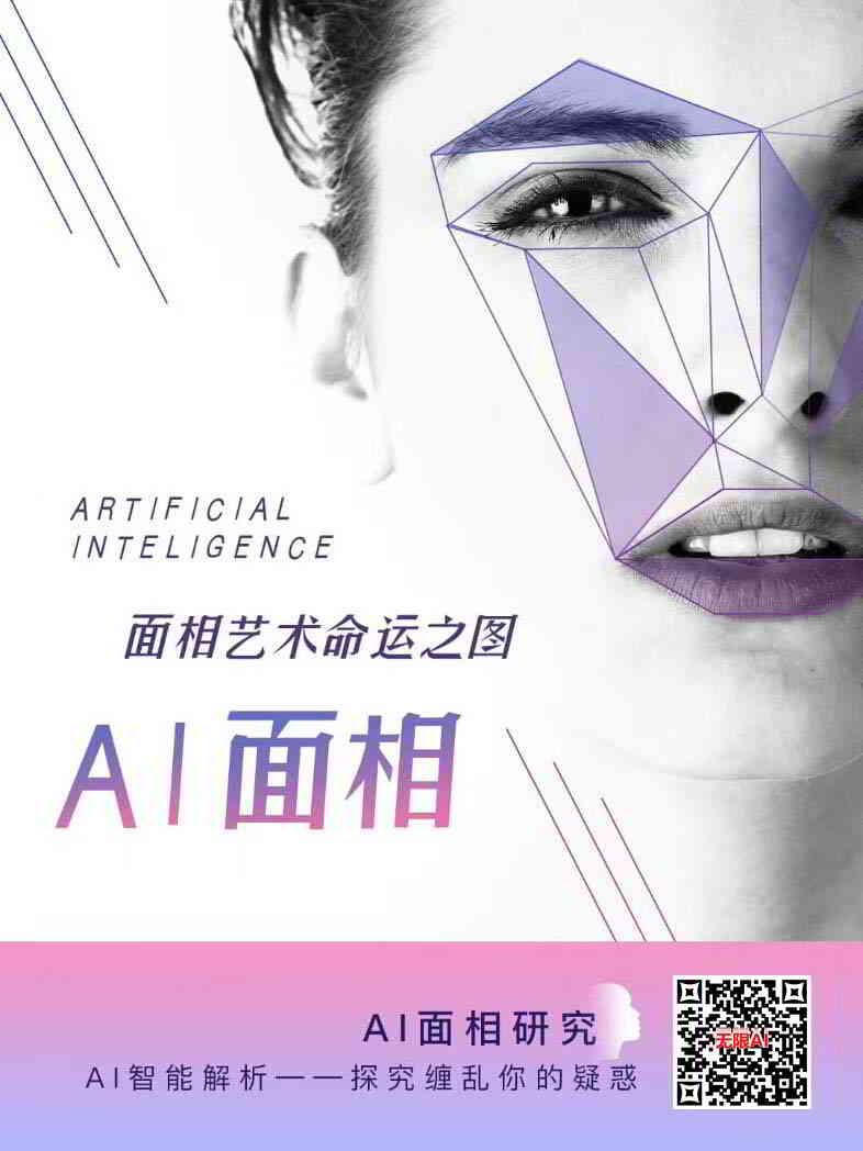 AI面相研究:美女面相艺术命运之图白色背景
