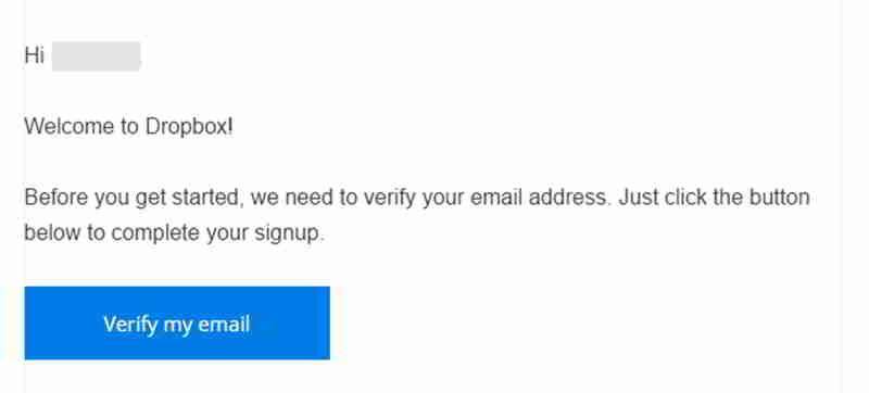 请按照电子邮件里的说明完成注册Dropbox