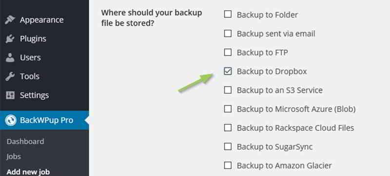 如何将WordPress自动备份到Dropbox?使用BackWPup插件