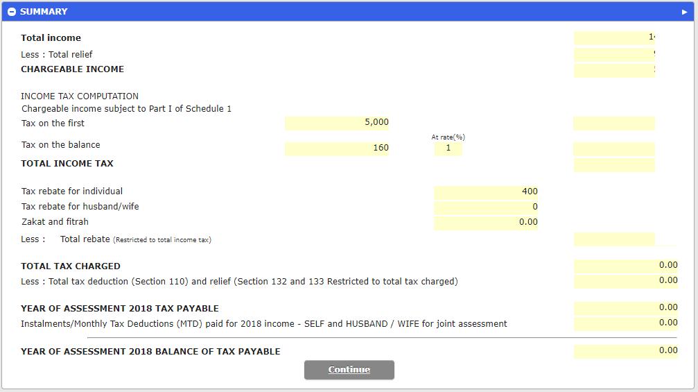 填写完上述信息后,你可以看到整个帐户的总结摘要,是否需要缴税?