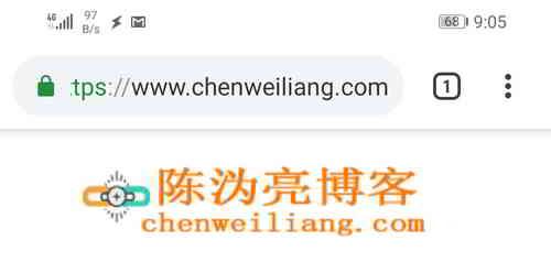 陈沩亮博客未修改Chrome浏览器主题颜色的屏幕截图