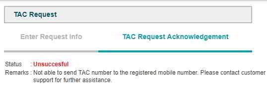 BSN银行网站的TAC请求不成功