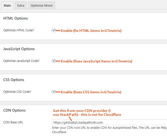 Autoptimize 插件主要设置:CDN选项