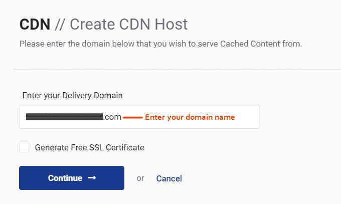 第 3 步:创建StackPath CDN站点