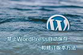 WordPress文章如何禁止自动保存/自动草稿/修订版本?
