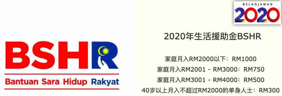 2020年BSHR生活援助金继续拨款:最高可获RM1480