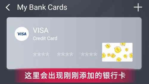 手机支付宝实名认证:银行卡列表,查看添加的国际银行卡