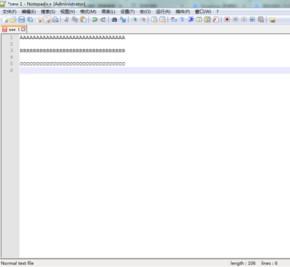 在Notepad++文本的末尾,替换为回车换行符(换行符代表新行)