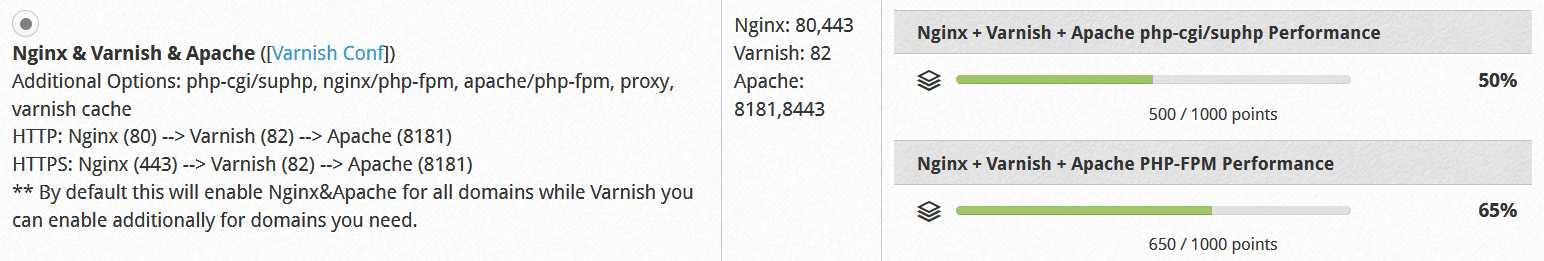 第 2 步:CWP控制面板选择 Nginx & Apache