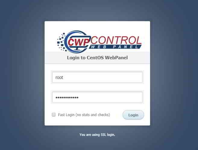 如何在CentOS Web Panel(CWP7)启用CSF防火墙?  第 1 步:以root身份登录CWP Admin页面