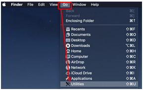 如何清除MAC操作系统(iOS)上的DNS缓存?  点击MAC机器的顶部导航栏中Go(前往)下的Utilities(实用工具)
