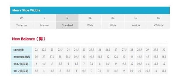 Rockport/乐步男鞋尺码对应表