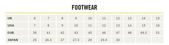 Dr. Martens/马丁大夫男鞋尺码对应表