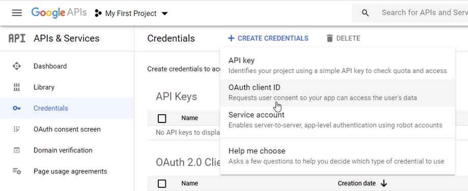 如何申请谷歌云端硬盘客户端ID和Secret Key密钥API?